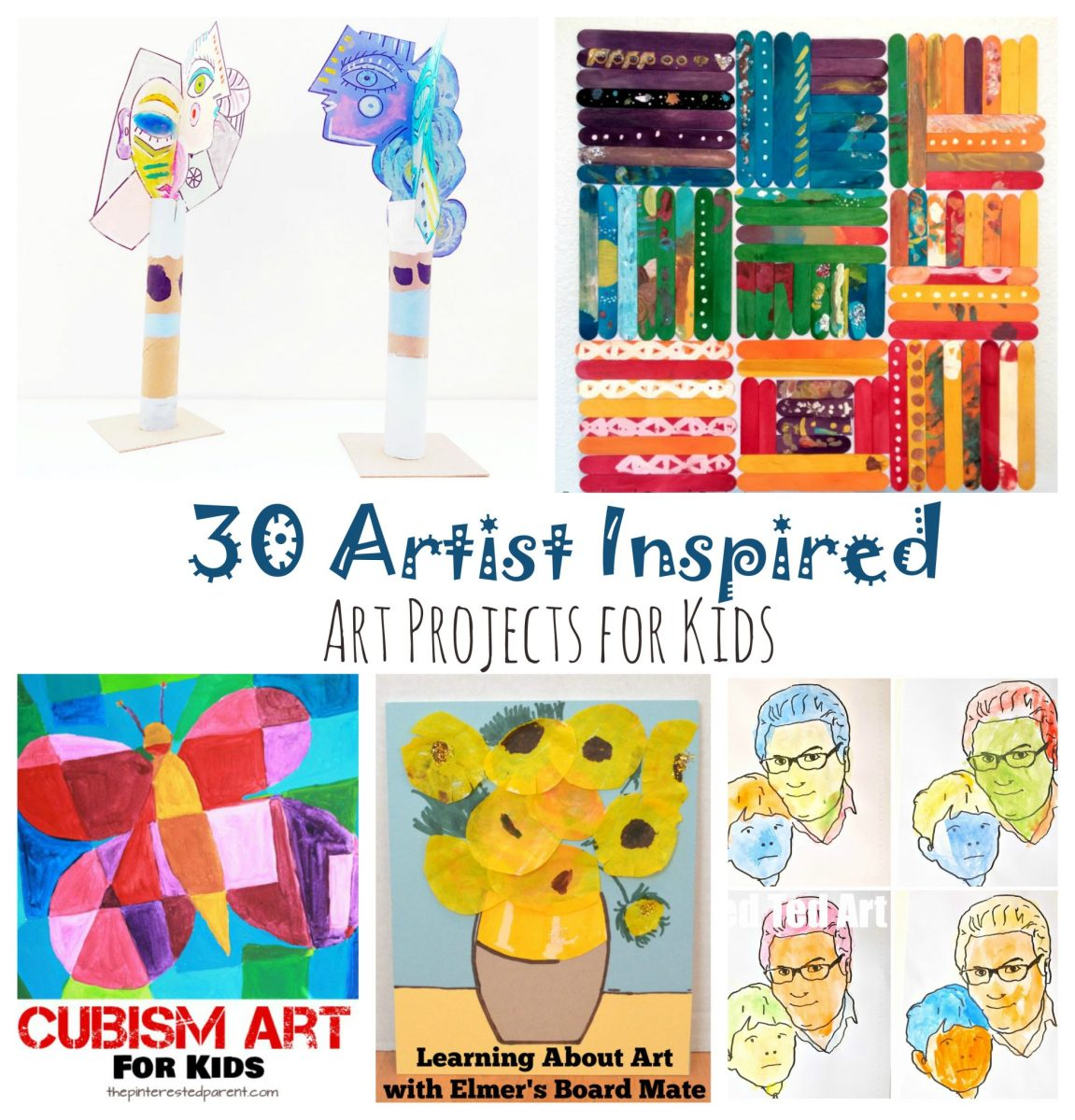 30 Artist Inspired Art Projects For Kids